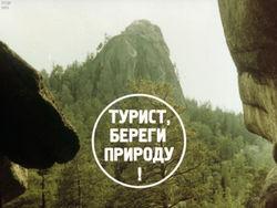 Диафильм Турист, береги природу! бесплатно