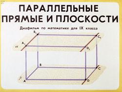 Диафильм Параллельные прямые и плоскости бесплатно