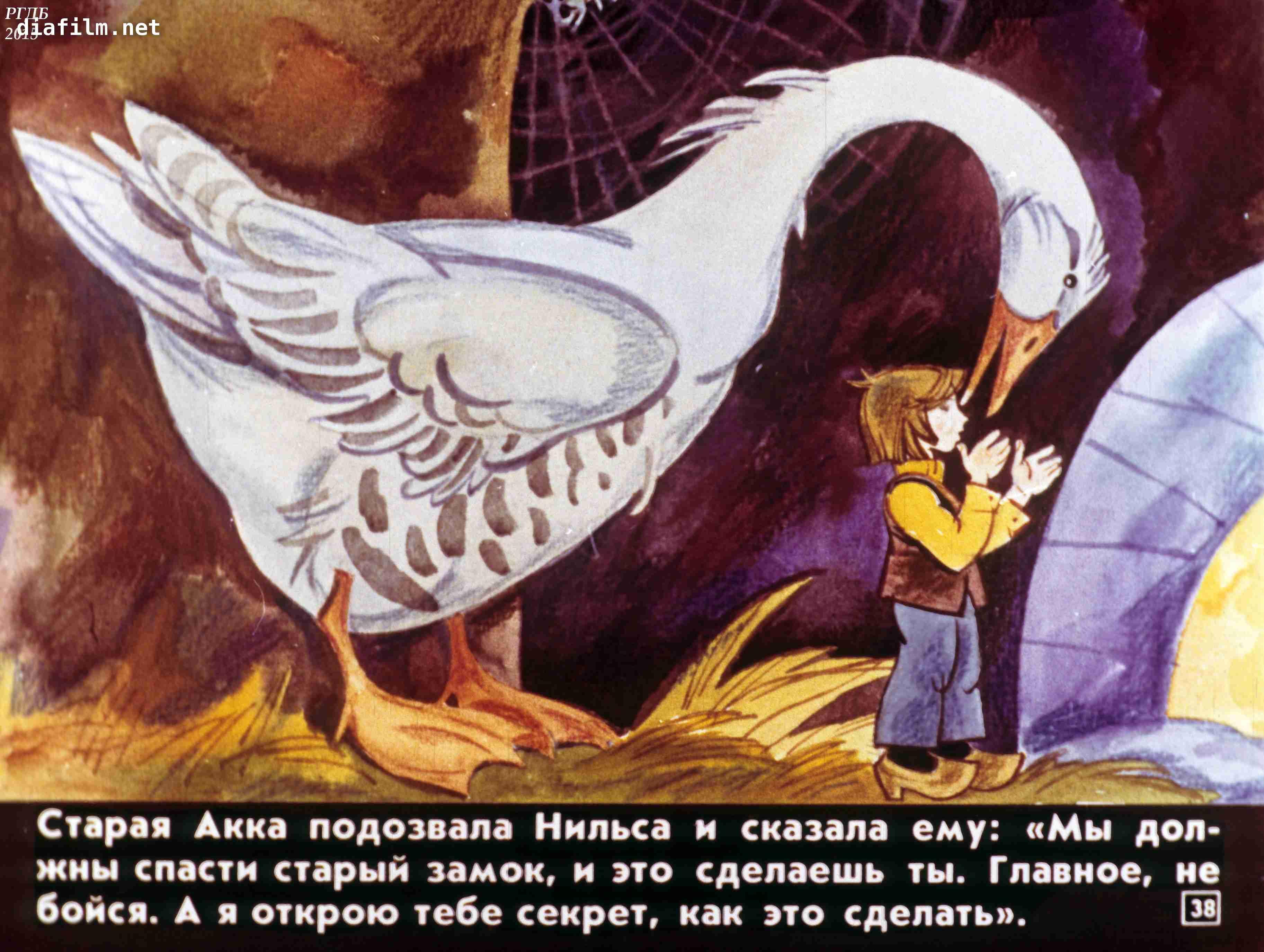 Сказка нильс и дикие гуси в картинках
