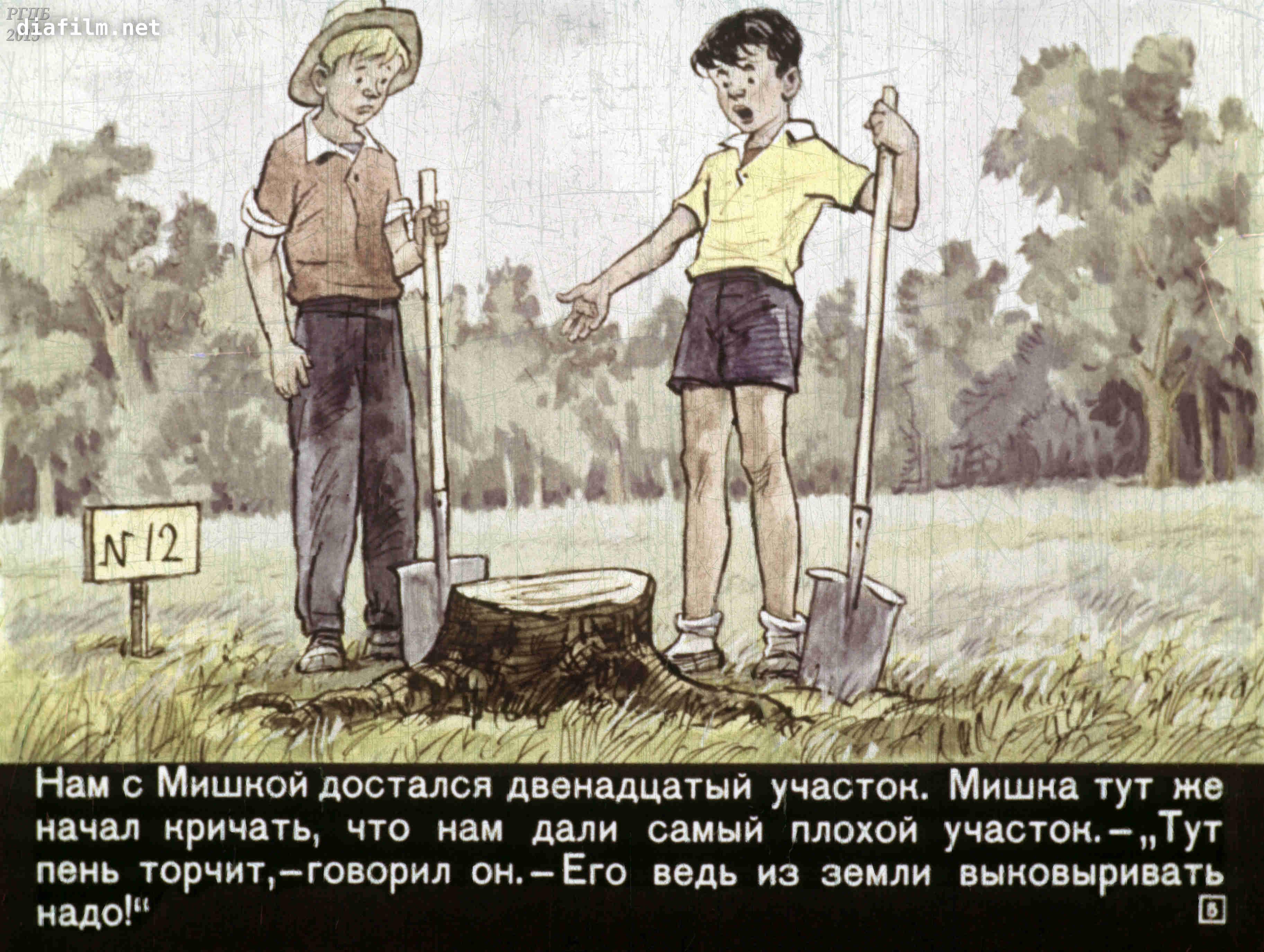 Иллюстрации к рассказу огородники носова